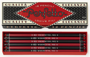 Perfetto Pencils by Louise Fili